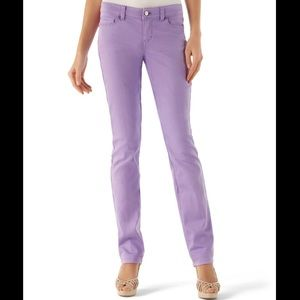 White House Black Market lavender jeans